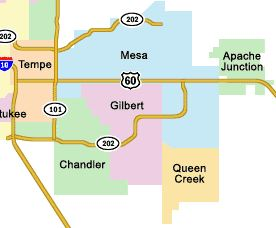 towing service map gilbert